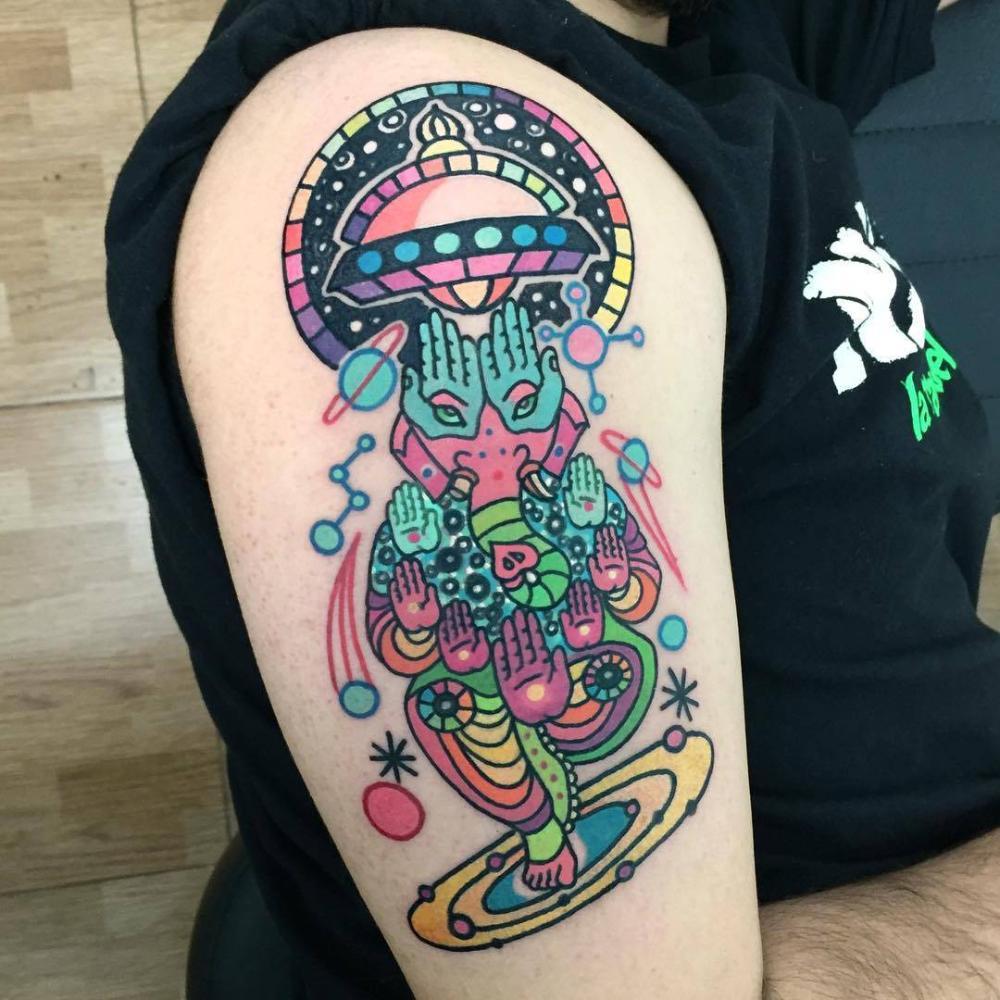 Small Acid Tattoo: Raro82's Psychedelic Tattoos