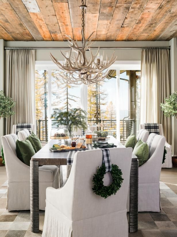 Interior Design Homes Winter 2019: Modern Mountain Holidays At HGTV Dream Home 2019