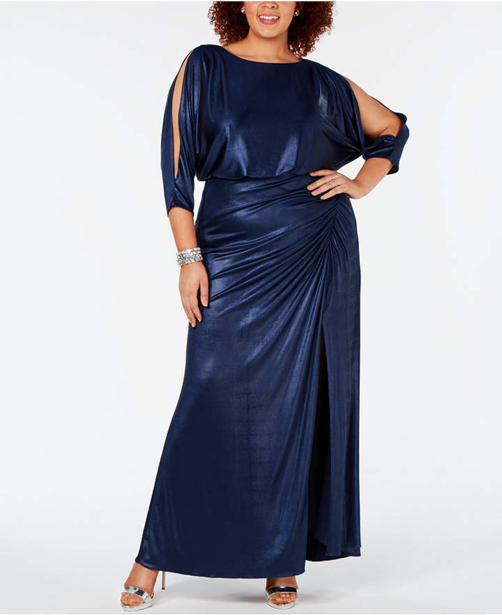 Adrianna Papell Plus Size Draped Metallic Gown in 2019 ...