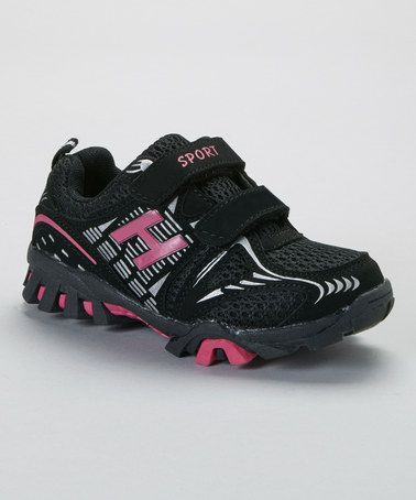 Another great find on #zulily! Black & Fuchsia Sport Sneaker by SYKE #zulilyfinds