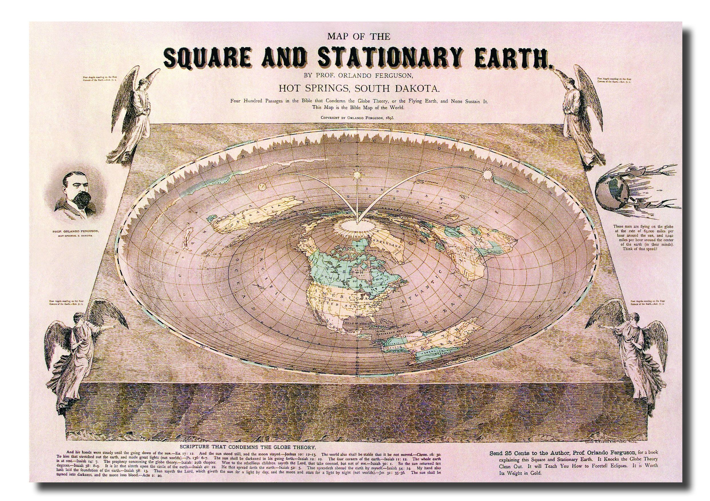 Square Earth Map.Square And Stationary Earth Flat Earth Poster Flat Earth Maps