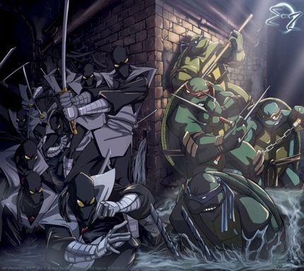 TMNT vs The Foot Clan
