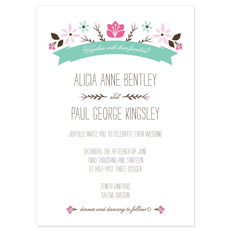 wedding announcement examples