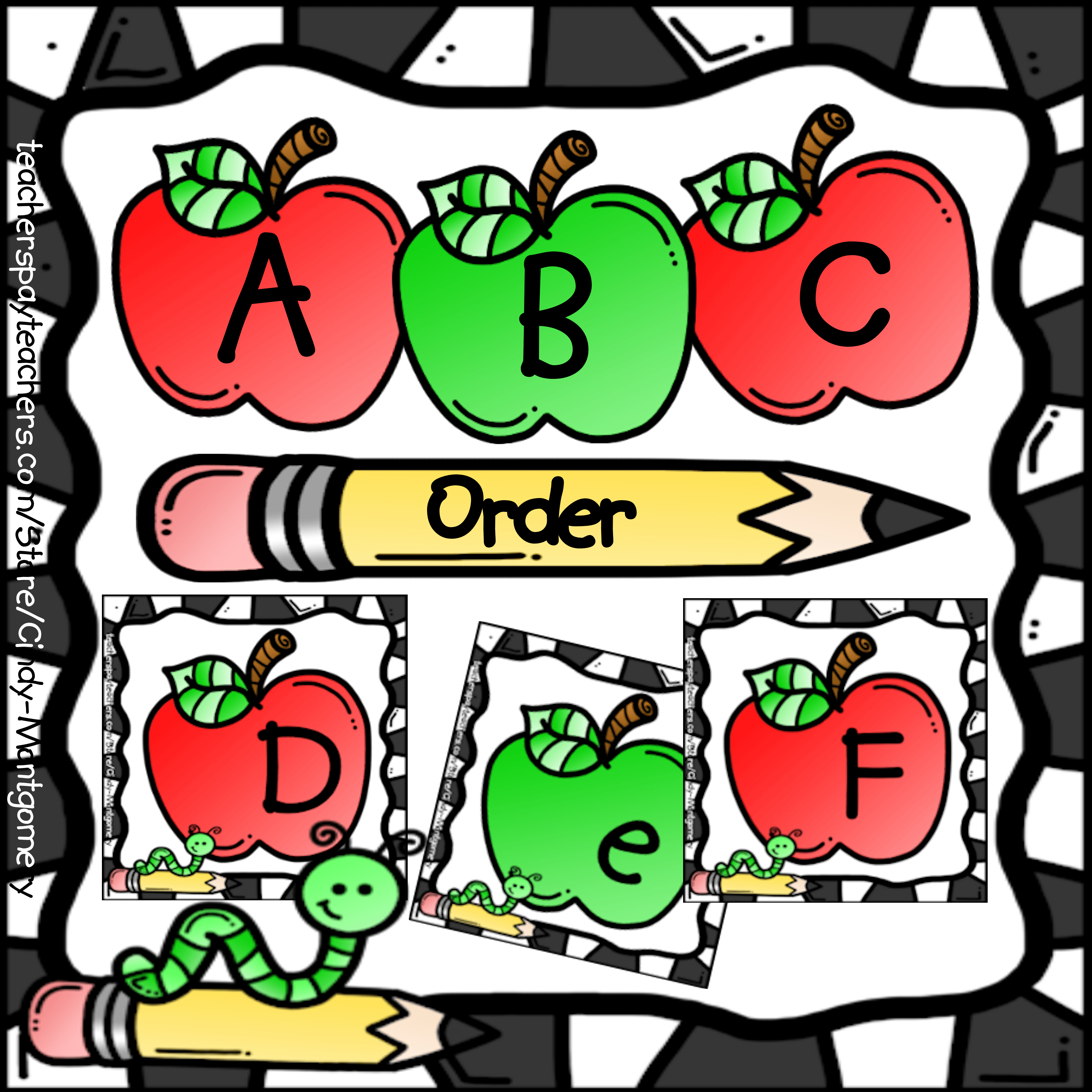 Apples Abc Order Printables Abc Order Abc Language Arts Resources [ 3600 x 3600 Pixel ]