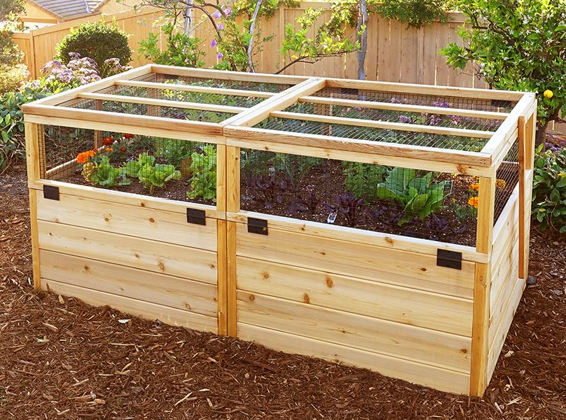 8 X12 Just Add Lumber Vegetable Garden Kit Deer Proof Cedar