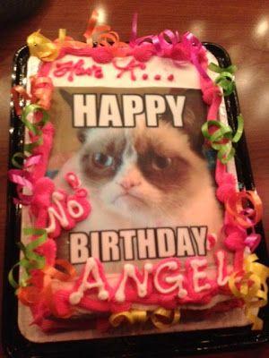 My birthday cake... :) Grumpy Cat!