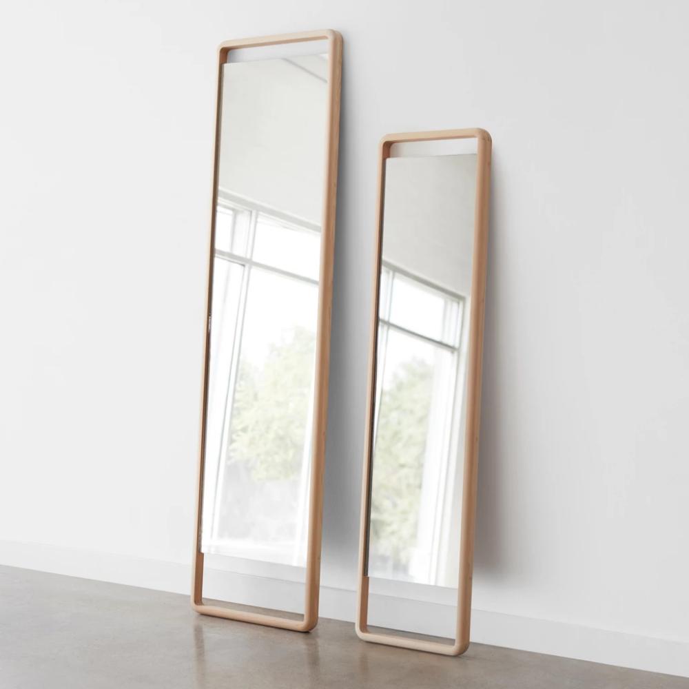 Hinoki Wood Floor Mirror Hinoki Wood Wood Floors Floor Mirror