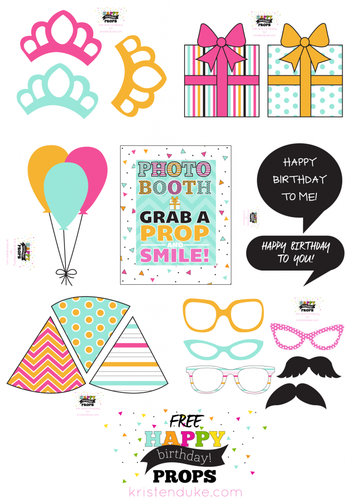 birthday photo booth props and free printables best of pinterest
