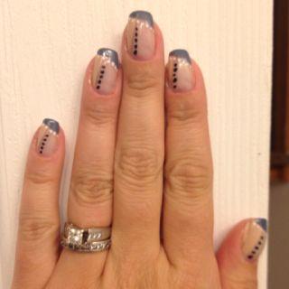 Fun French nails. :)