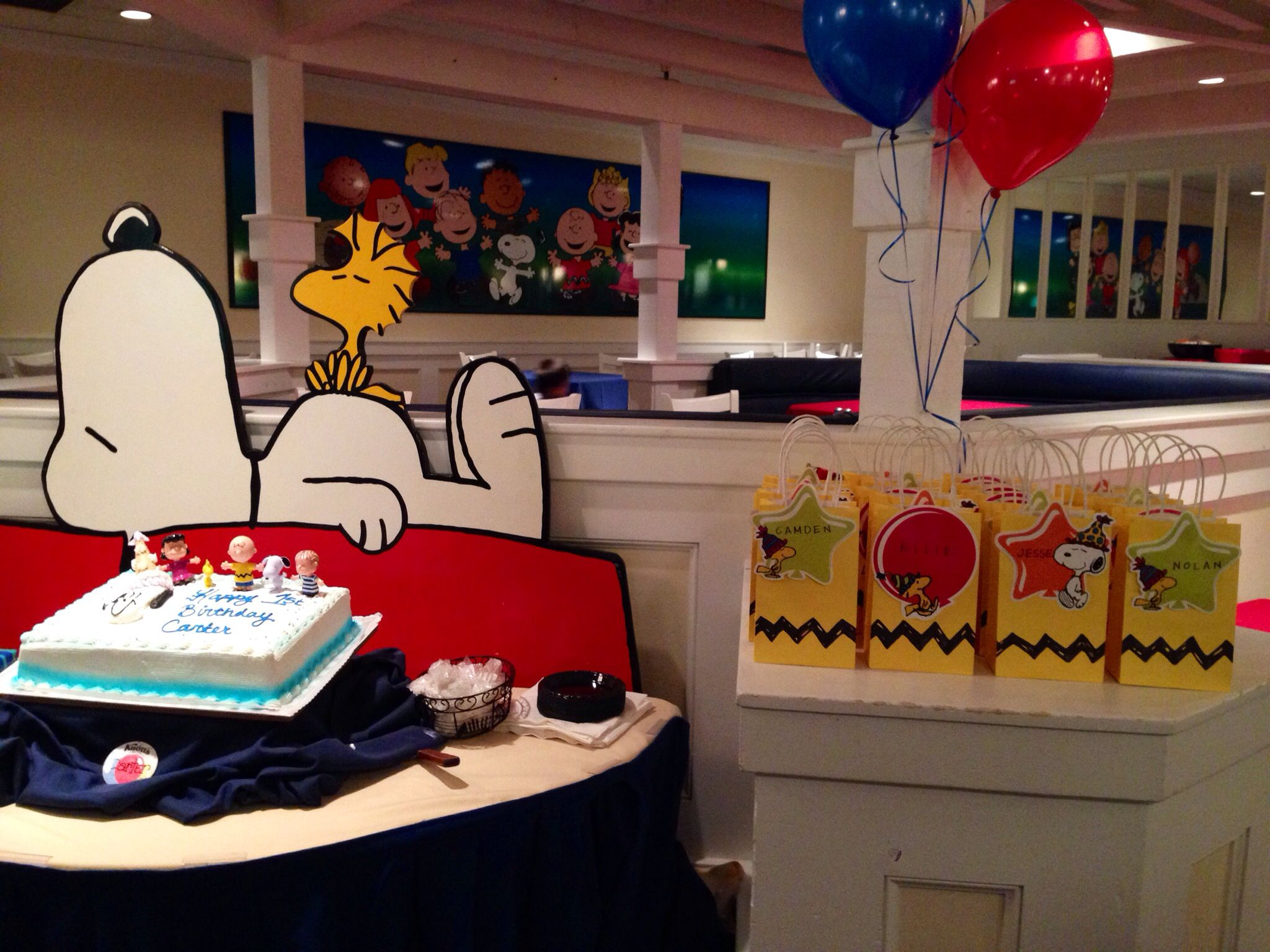 Peanuts birthday party at Snoopy's Clubhouse at Knott's Berry Farm ...