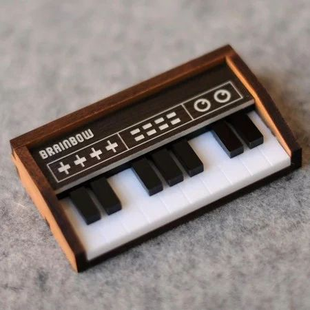 """bRainbow(ブレインボー)WoodenKeyboardBrooch/Necklace【44°+Store】"" https://sumally.com/p/465475"