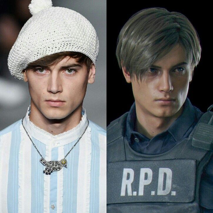 Face Of The Leon In Re2r Eduard Badaluta Resident Evil Leon