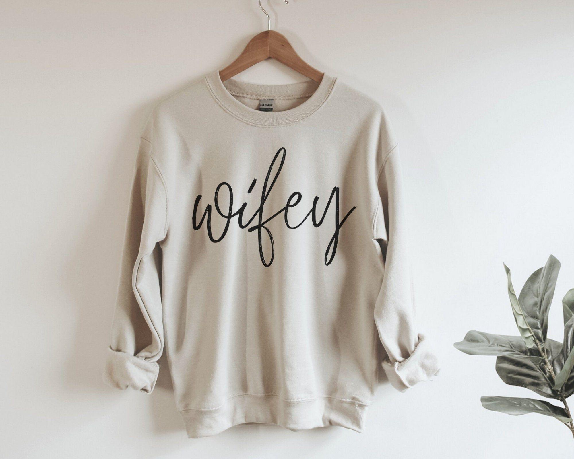 cute sweatshirt bride sweatshirt wifey shirt Bride Gift bridal shower gift friend engagement women sweatshirt engagement gift