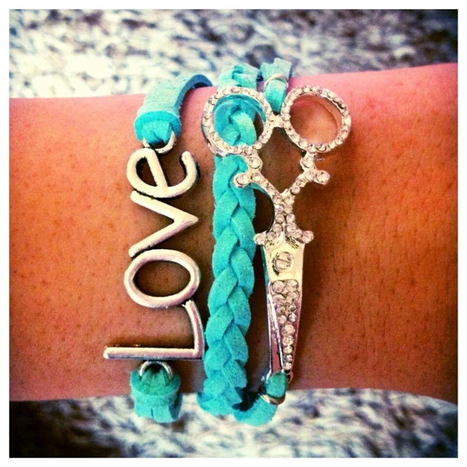 Stylist Bracelet Jewlery Hair Hairdresser Love