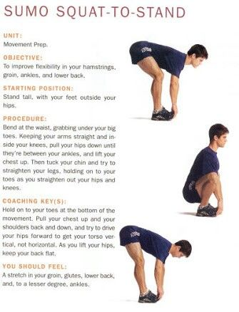 hip flexors sumo squats to stand