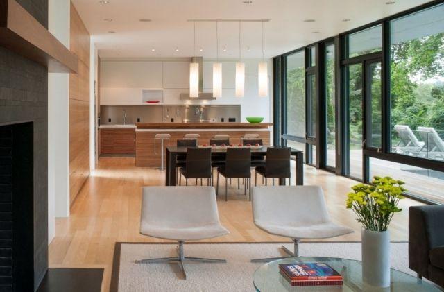 Haus Einrichtung haus einrichtung wohnküche holz fronten dielenboden haus