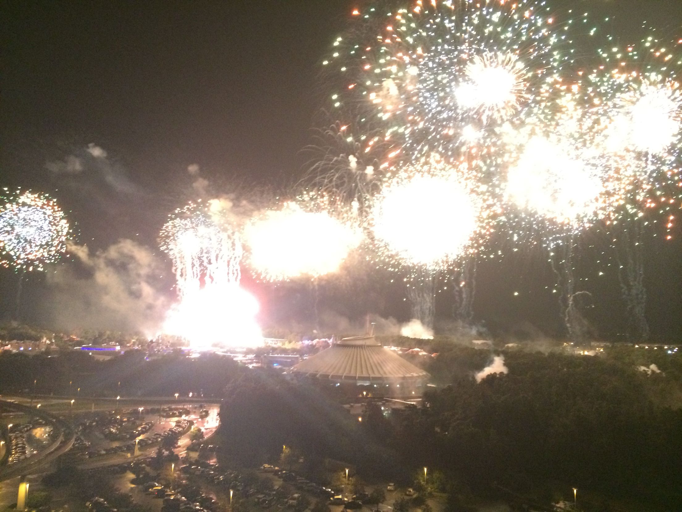 Fireworks over the Magic Kingdom