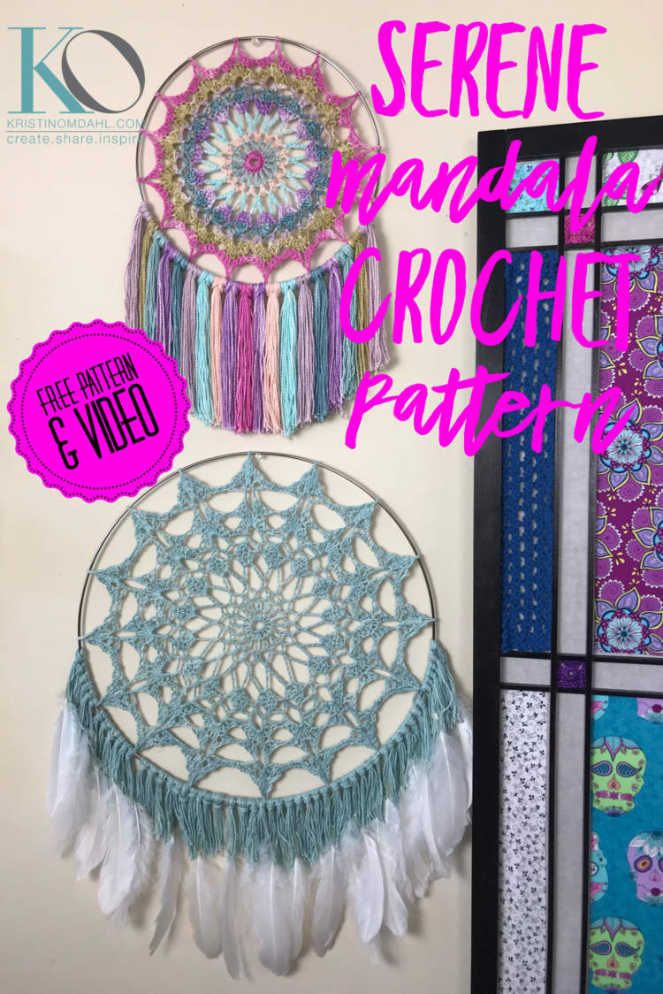 Dec 7 Serene Mandala Wall Hanging And Dreamcatcher Free Crochet