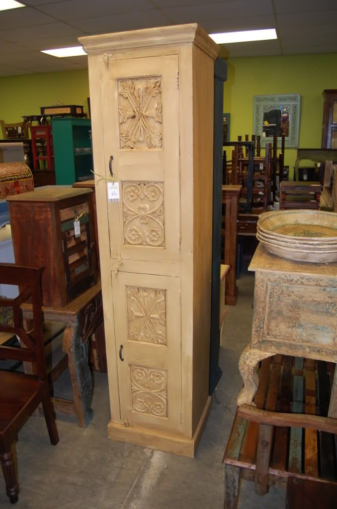 Tall Narrow Cabinet NJ167 $414.00 - Tall, Narrow Armoire Cabinet: In Cherry- Handmade Custom Wood