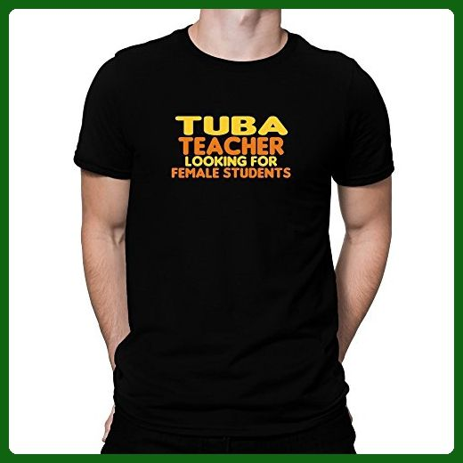 Teeburon Tuba teacher looking for female students T-Shirt - Careers professions shirts (*Amazon Partner-Link)