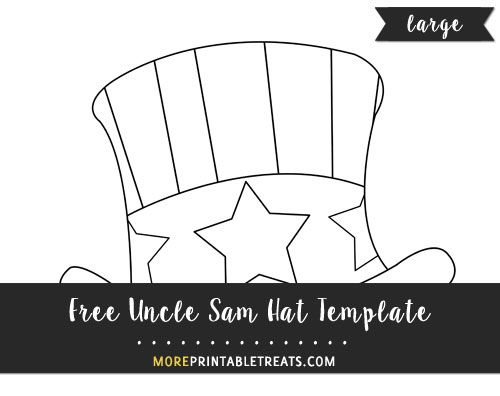 Free Hand Drawn Uncle Sam Hat Template Large Hat Template