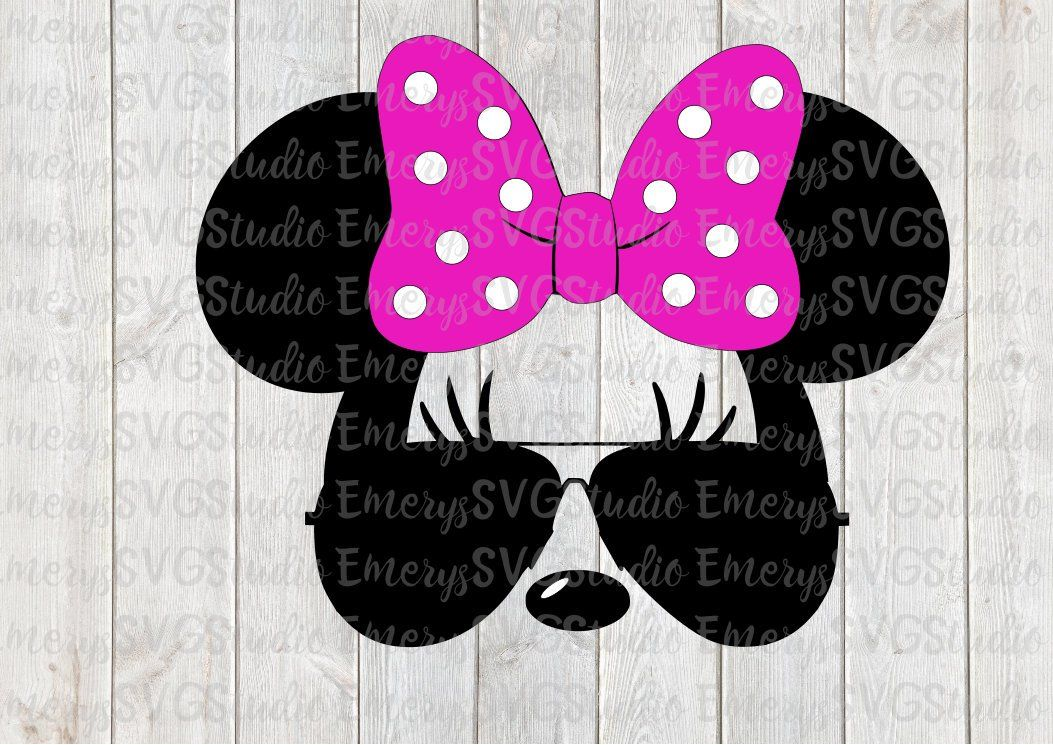 SVG DXF File for Minnie with Aviator Sunglasses Etsy