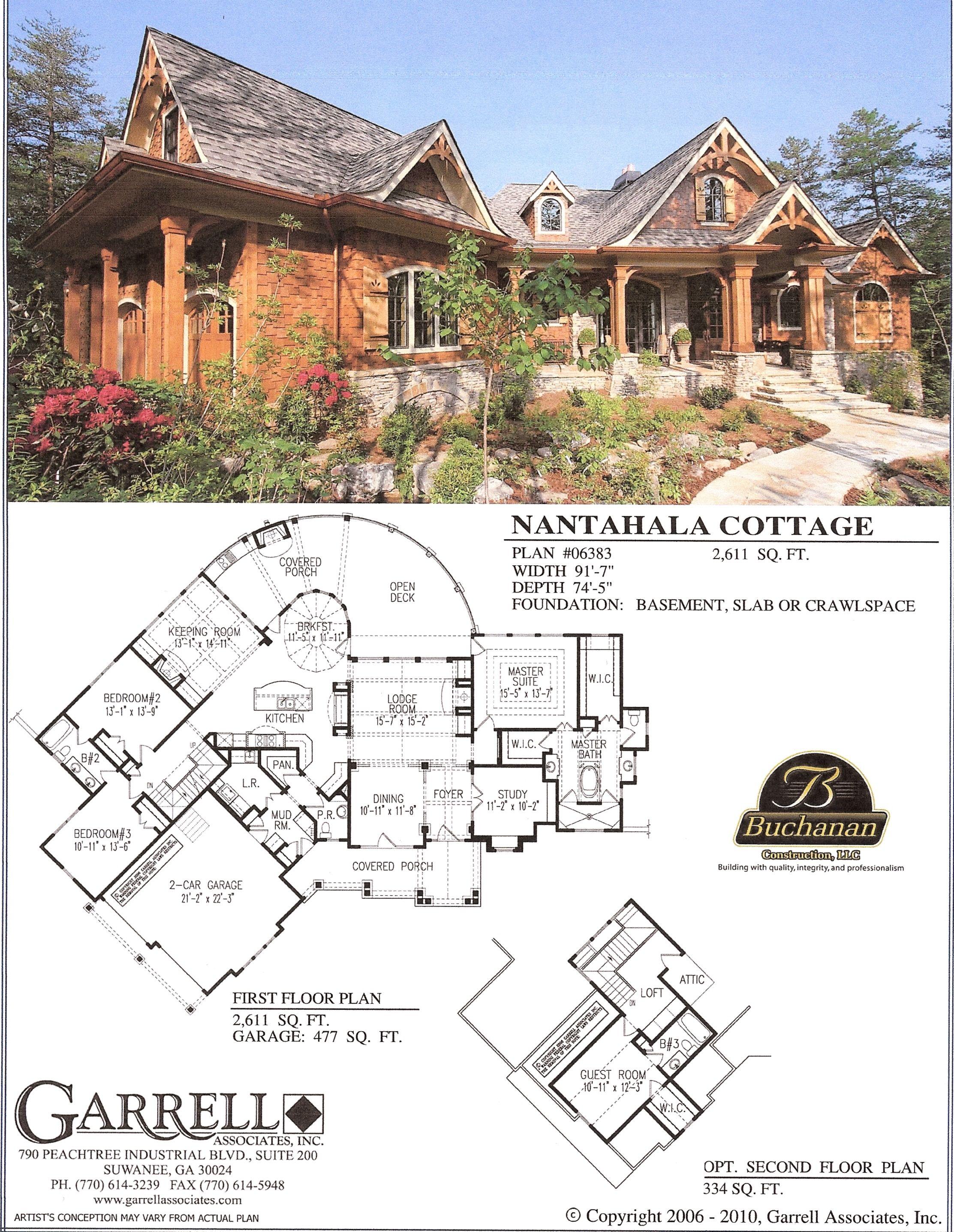 The nantahala cottage house plan options pinterest for Nantahala floor plan