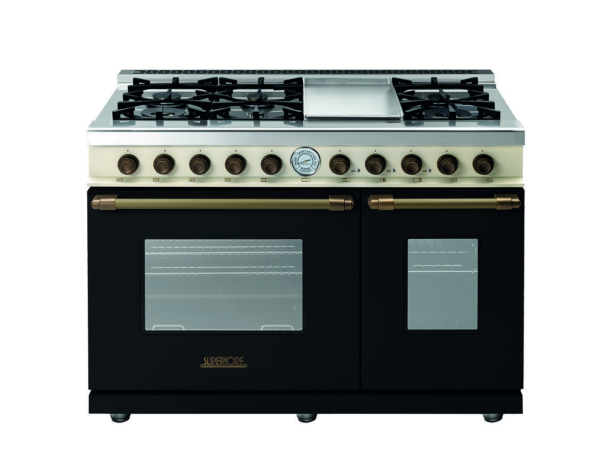 Range Deco 48 Classic Black Dual Color Bronze Range With A Unique Design And An Unparalleled Level Of Cooking Gas Oven Double Oven Gas And Electric Ranges