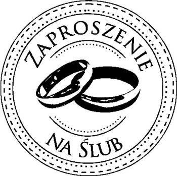 Okrągły Gumowy Stempel Zaproszenie Na ślub No12 Napis
