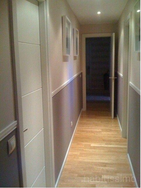 Pasillo gris y blanco ideas para el hogar pinterest - Papeles pintados para pasillos ...