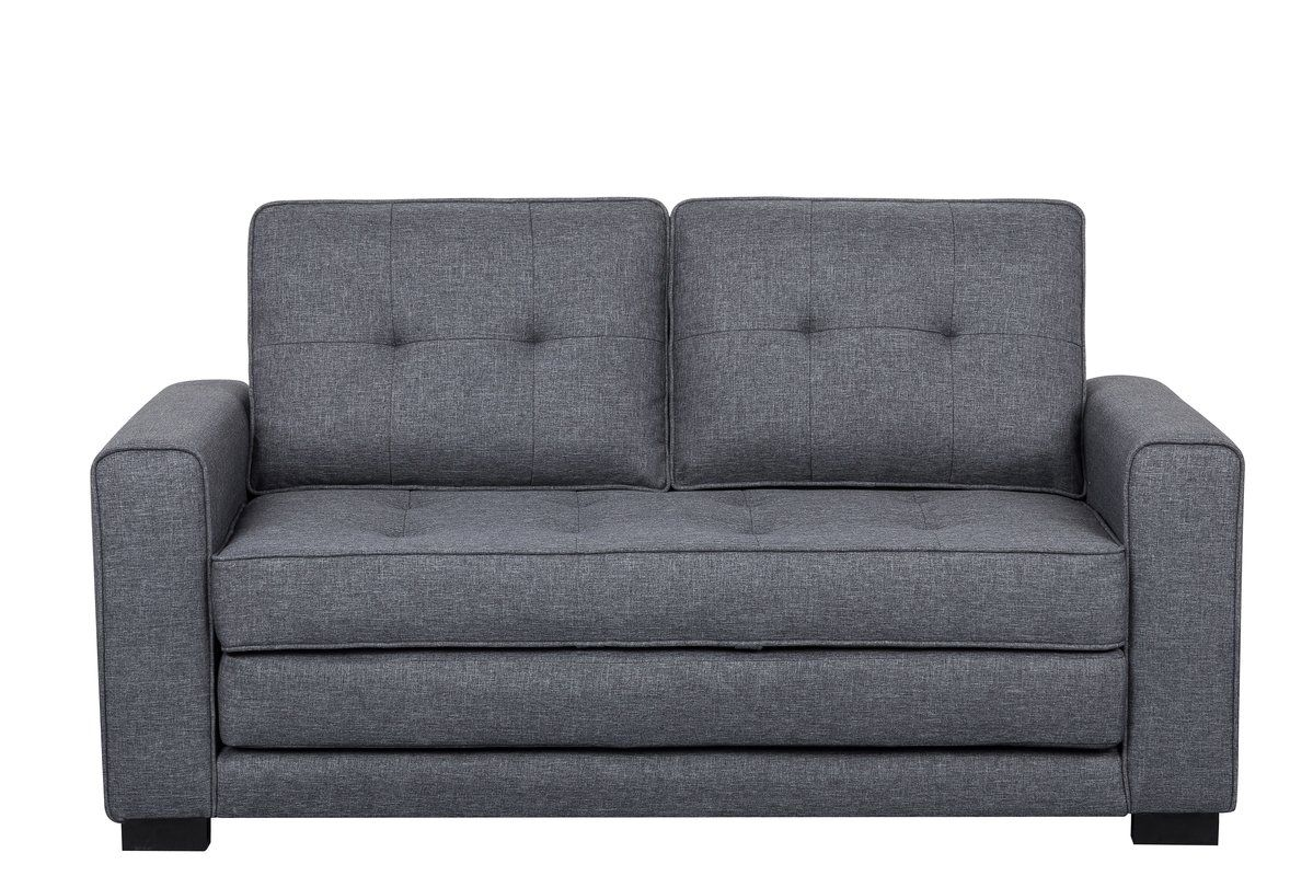 Free 2 Day Shipping Buy Us Pride Furniture Franco Convertible Sleeper Loveseat Dark Gray At Walmart Com In 2020 Love Seat Loveseat Sleeper Sofa Bed