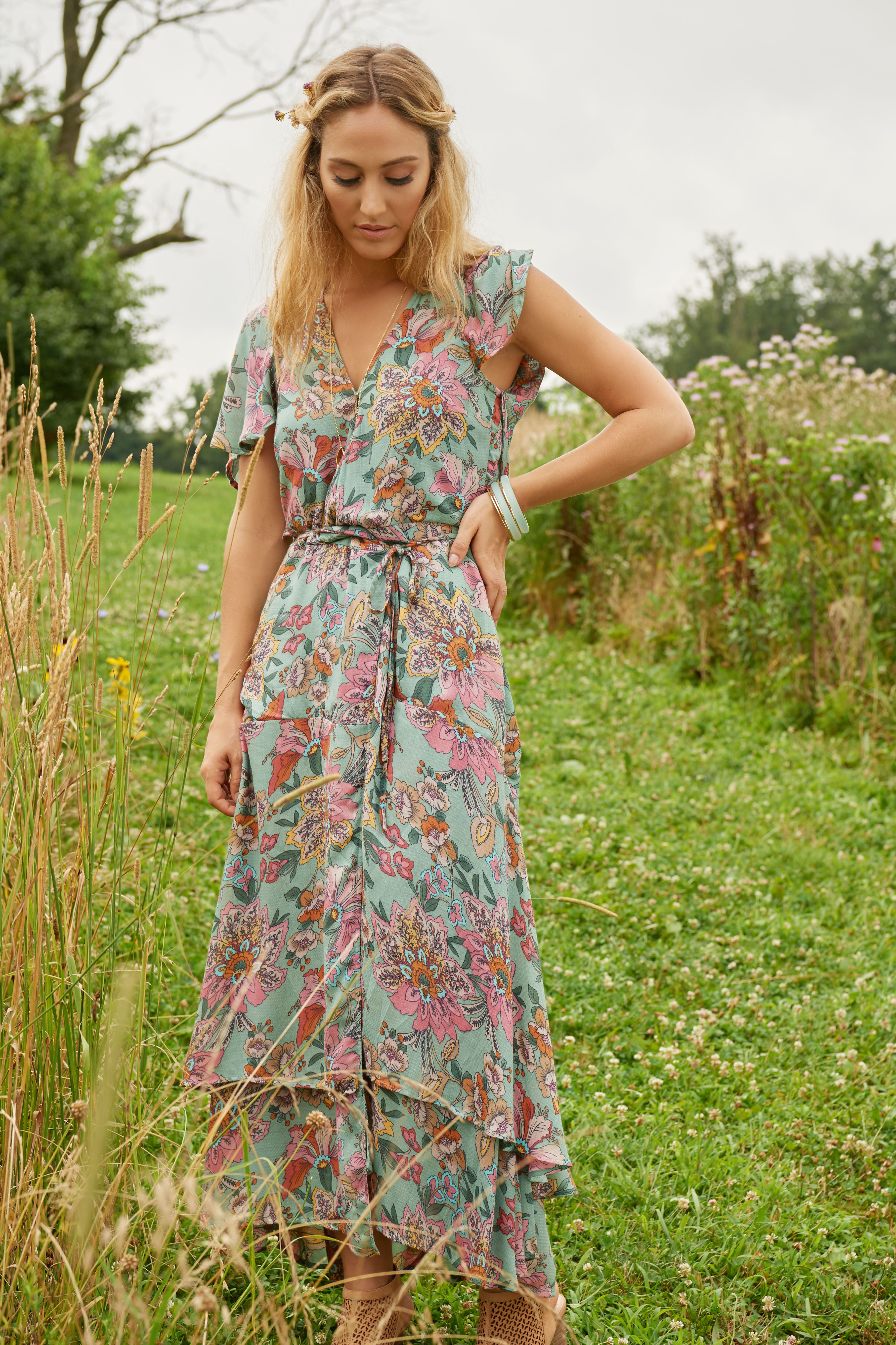 Haute Hippie Tribe Luna Wrap Maxi Dress Qvc Com Maxi Dress Hippie Dresses Maxi Wrap Dress [ 5408 x 3605 Pixel ]
