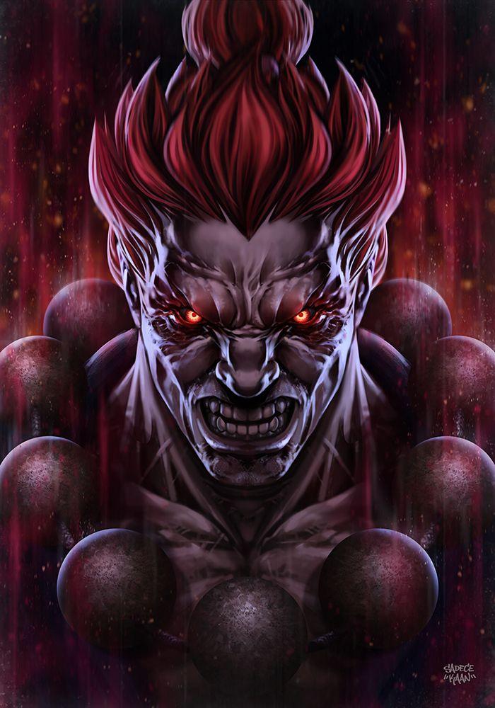 Akuma Street Fighter By Sadecekaaniantart On Deviantart