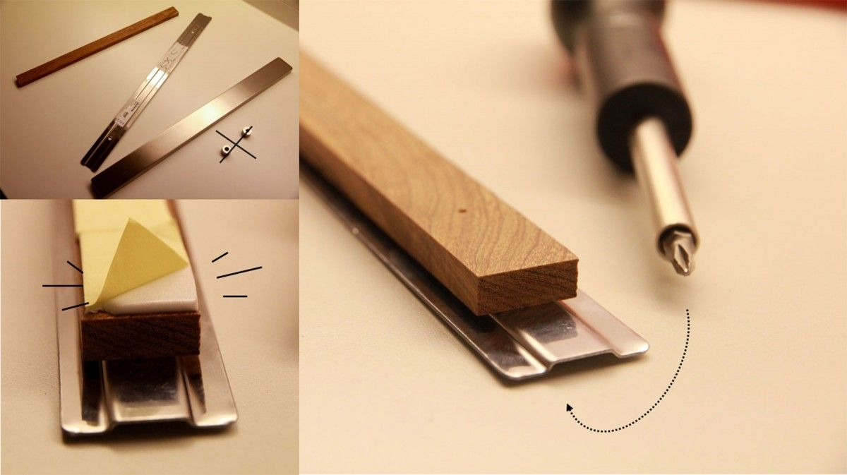 poser le porte-couteau grundtal sans percer !   organiser la maison