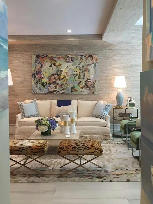 Living room, hamptons showhouse via enchanted home