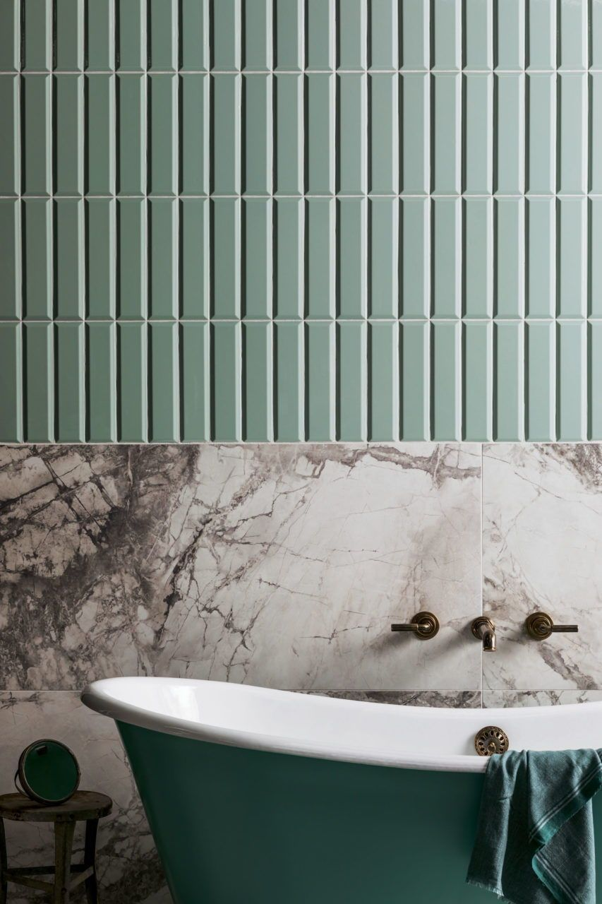 Photo of 2020 Bathroom Tile trends – subway tiles in green