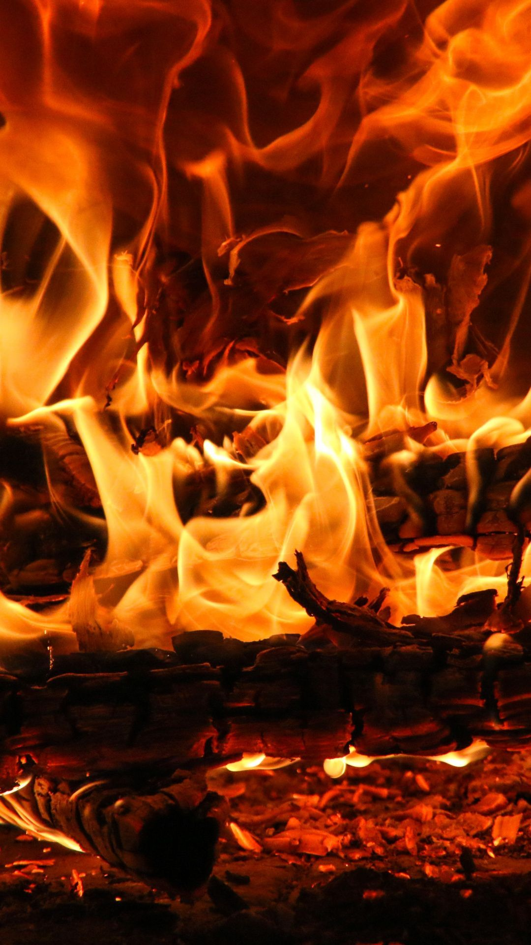 Wallpapers bonfire, combustion, ember, campfire, fire in