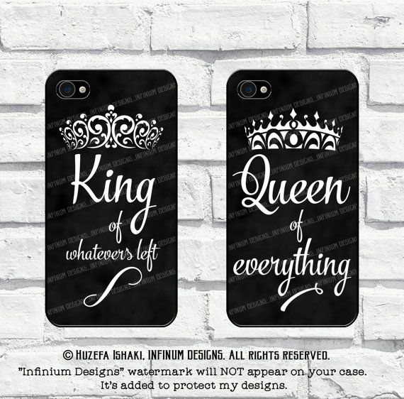 sale retailer 8e110 9e7c2 King And Queen Case For iPhone 7, Samsung S8, S8 Plus, S7, S7 Edge ...