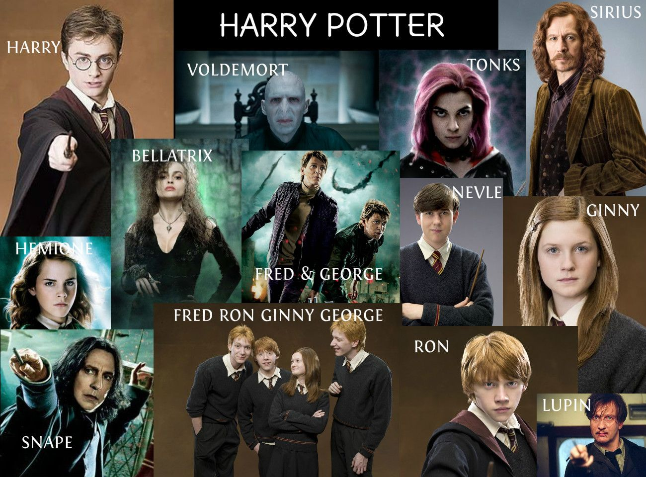 With names pictures potter characters harry