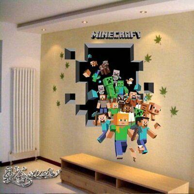 Best Minecraft Wall Stickers For Kids Rooms Art Mural Minecraft 400 x 300
