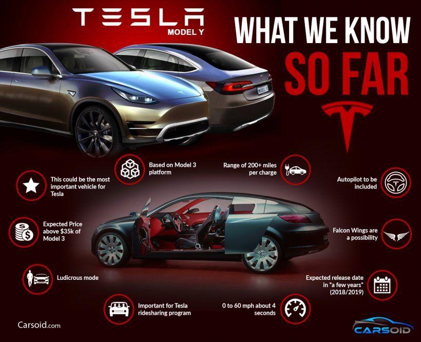 Tesla Model Y Crossover Suv Timeline Infographic Crossover