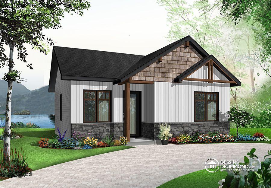 Détail du plan de Maison unifamiliale W1704 Chalet idée Pinterest - idee de plan de maison