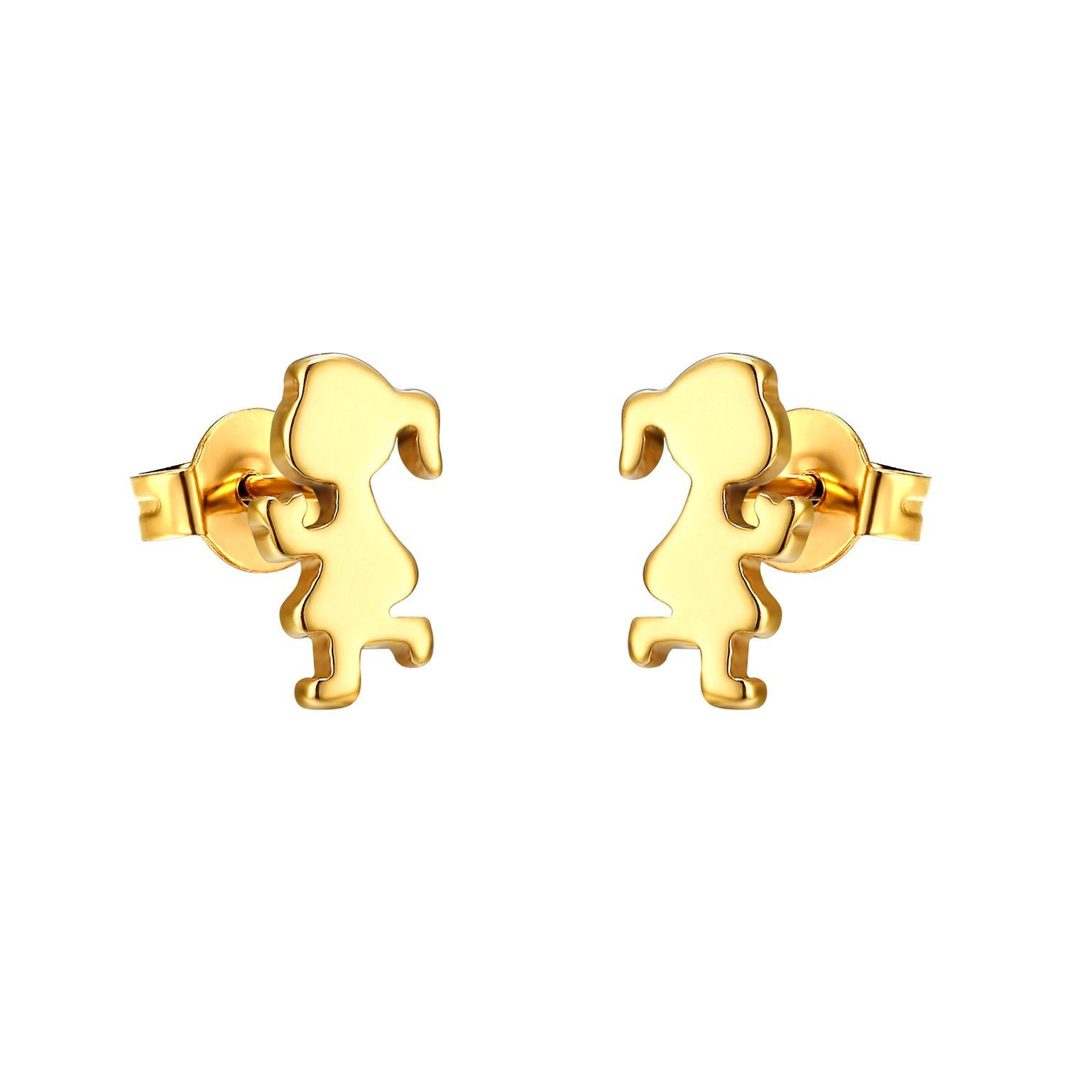14k Yellow Gold Classic Little Ball Screw Back Baby Toddlers Girls Earrings