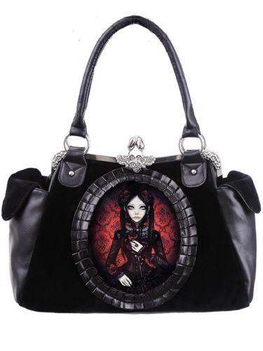 da512d1e0fa35 Restyle-Tasche-Puppe-Gothic-Lolita-Burton-Handtasche-Victorian-Doll-Bag -Stripes