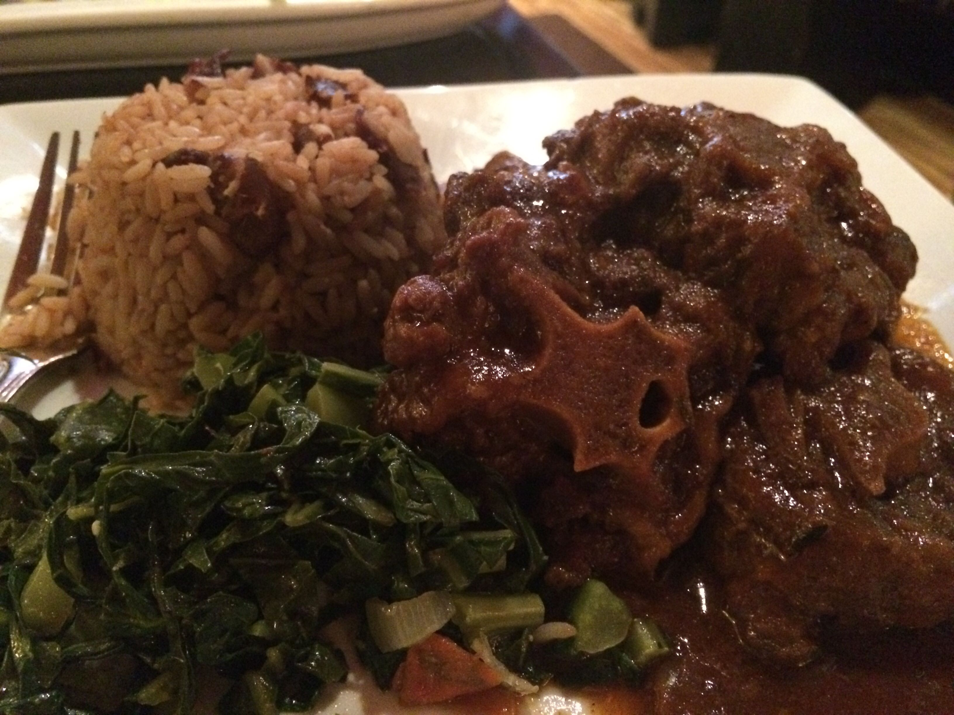 oxtail with rice and peas  easy delicious recipes food