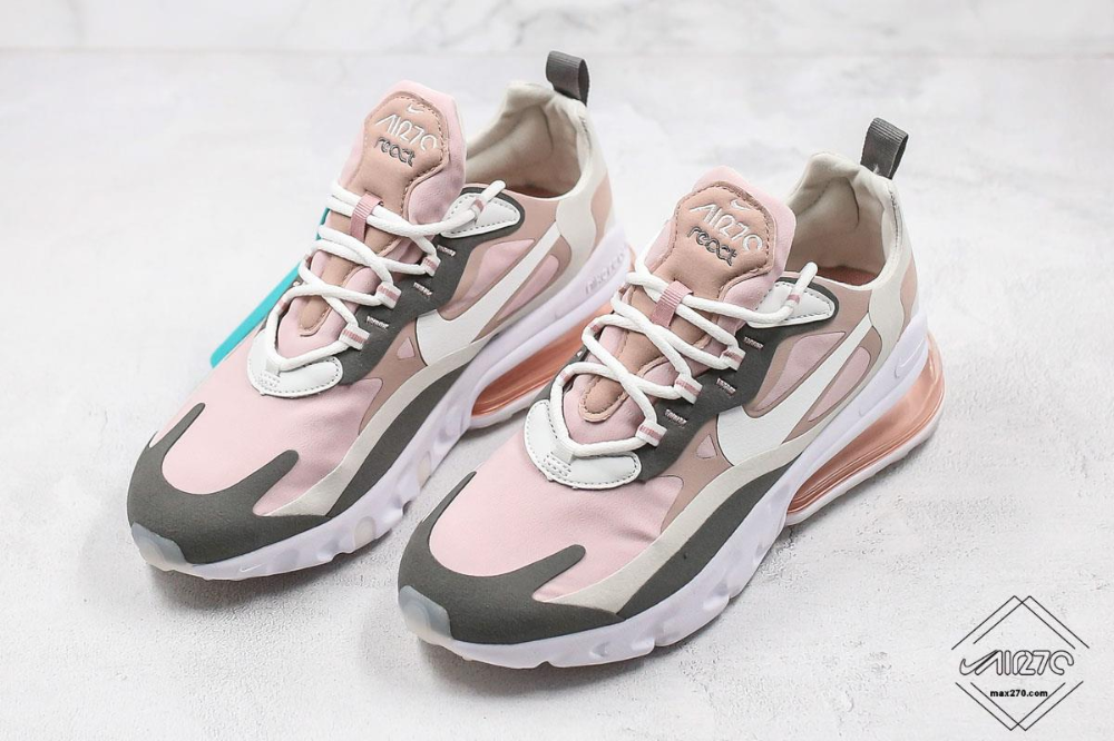air max 270 react pink and white