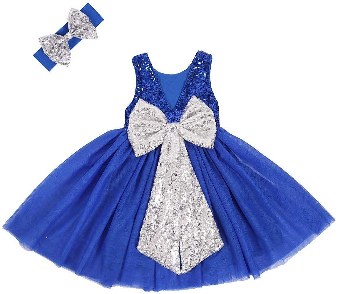 Amazon Com Cilucu Flower Girl Dress Baby Toddlers Sequin Dress Tutu Kids Party Dress Brid Infant Flower Girl Dress Kids Party Dresses Flower Girl Dresses Blue [ 1000 x 1150 Pixel ]