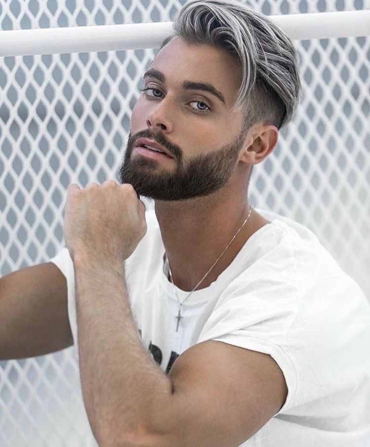Coiffure Hommes Guys Graue Haare Manner Haarschnitt Manner