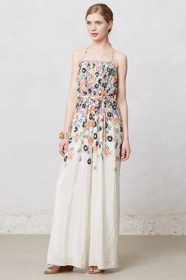 Anthropologie Tupsa Pleated Jumpsuit It Looks Like A Dress But