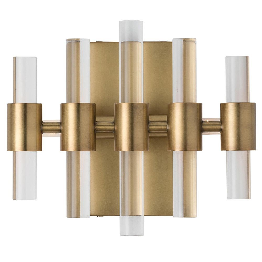 096f22e8e0d6 Arteriors Haskell Glam Sconce – Antique Brass For hallway light ...